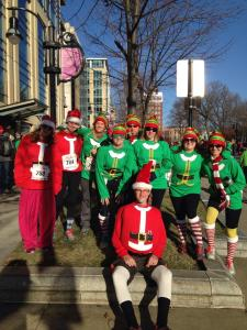 Our MTILP group at the Santa Run