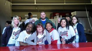 1 of 3 beer stand volunteer groups.